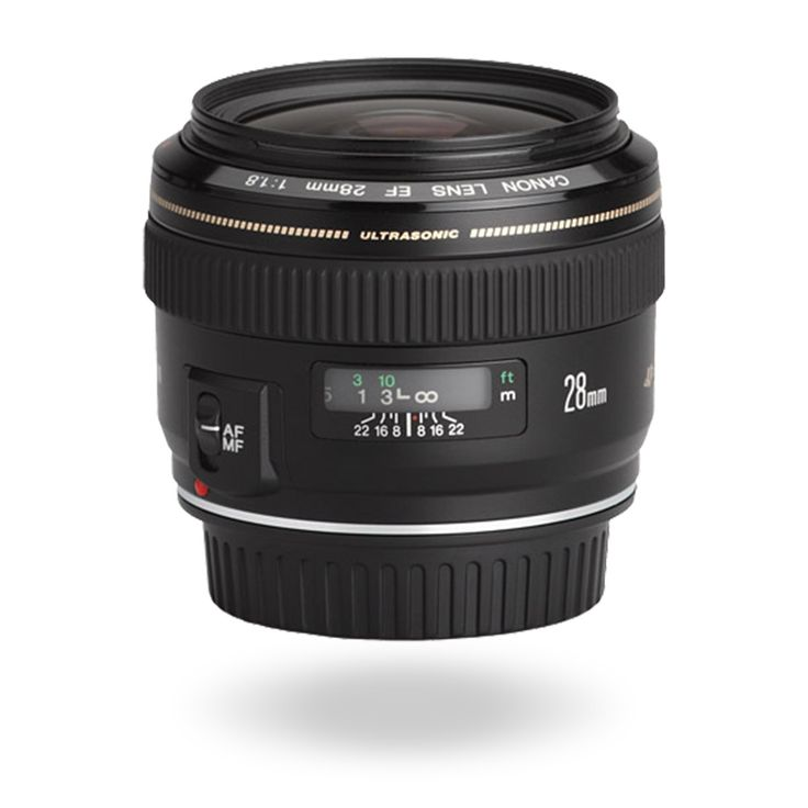 EF 28mm f/1.8 USM Achieve beautiful results with this compact wide angle lens