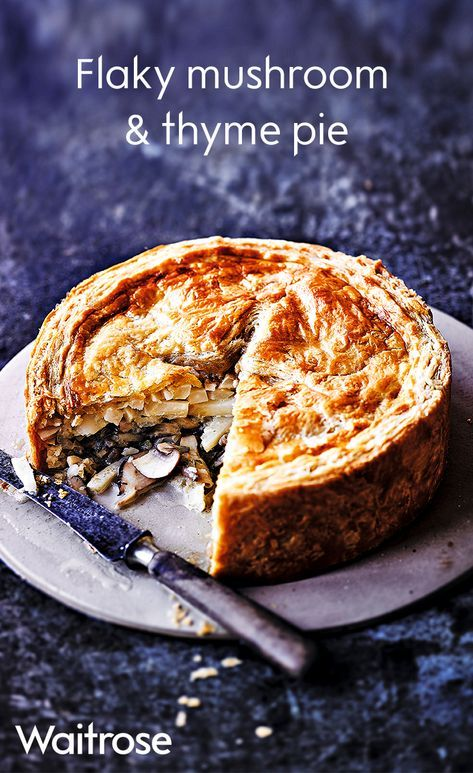 Creamy mushroom, celeriac and thyme encased in crispy, flaky pastry makes for a delicious vegetarian alternative to the traditional Sunday lunch. Enjoy with creamy mash and greens. See the full recipe on the Waitrose website.