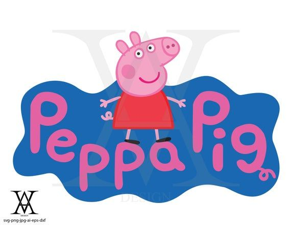 Peppa Pig Clipart Vector Instant Download Svg Png Eps Dxf Ai Jpg Peppa Pig Pig Clipart Pig Png
