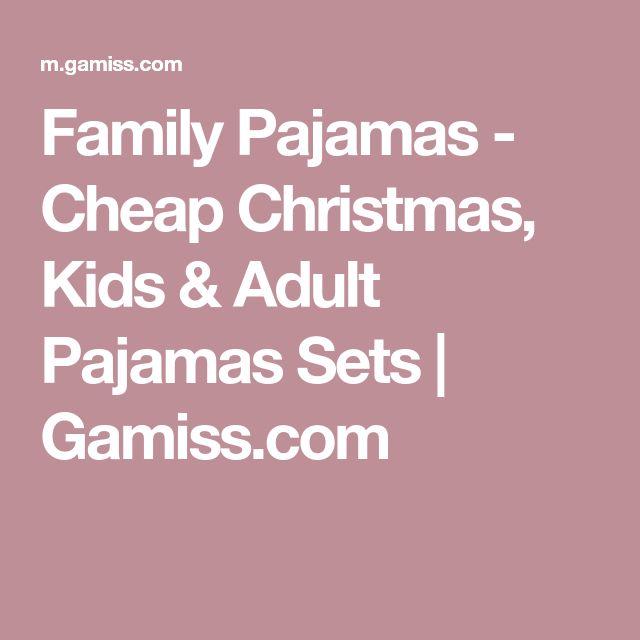 Family Pajamas - Cheap Christmas, Kids & Adult Pajamas Sets   Gamiss.com