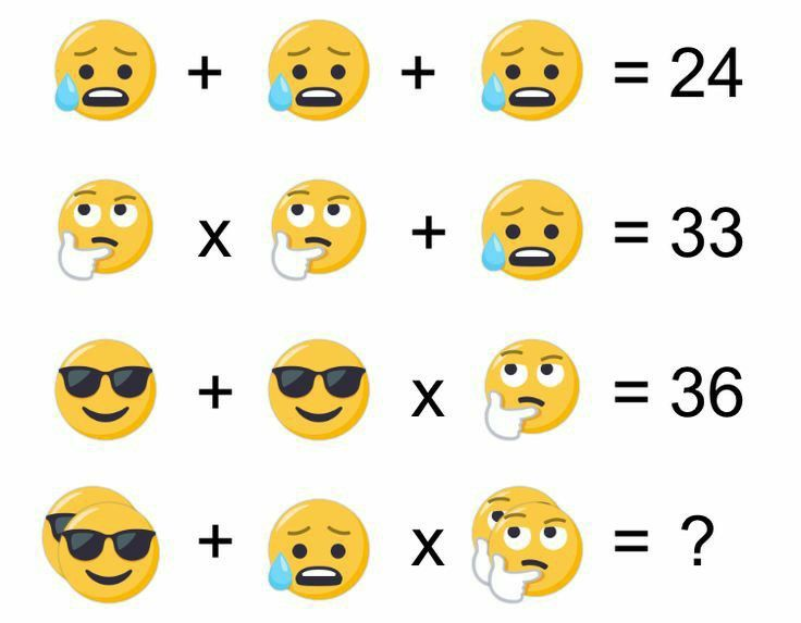 Solve the emojis puzzle in 2020 Maths puzzles, This or