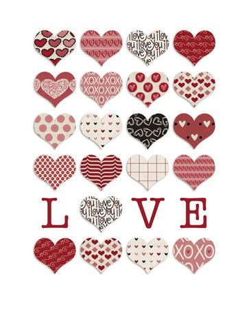 this would make a cute valentine quilt free printable i made using delovely from polka dot pixels at two peas in a bucket