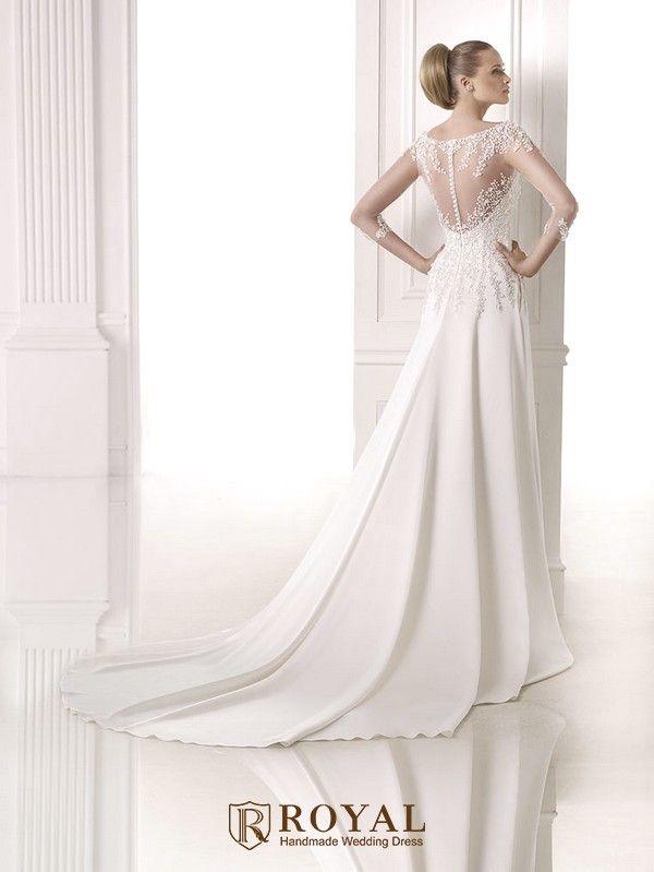 板橋蘿亞手工婚紗 Royal handmade wedding dress 婚紗攝影 購買婚紗 單租婚紗 西班牙Atelier Pronovias CIRENIA