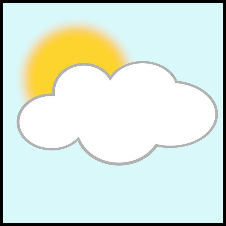 Weerkaartjes - half bewolkt