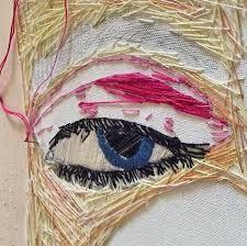 """Mashail Faqeeh da IL RAMO D'ORO """"Ricamo come Arte Contemporanea - Embroidery as Contemporary Art""""  https://ilramodoro-katyasanna.blogspot.it/2013/03/ricamo-come-arte-contemporanea.html"""