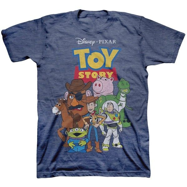 Men's Toy Story Group Shot T-Shirt Navy ($25) ❤ liked on Polyvore featuring men's fashion, men's clothing, men's shirts, men's t-shirts, old navy mens t shirts, old navy mens shirts, mens navy blue shirt, mens t shirts and mens navy blue t shirt