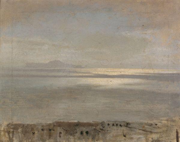 Giuseppe de Nittis (1846-1884) Gulf of Naples : Sunny Reflections, 1872 Oil on canvas - 39.5 X 31 cm Barletta, Pinacoteca Giuseppe De Nittis