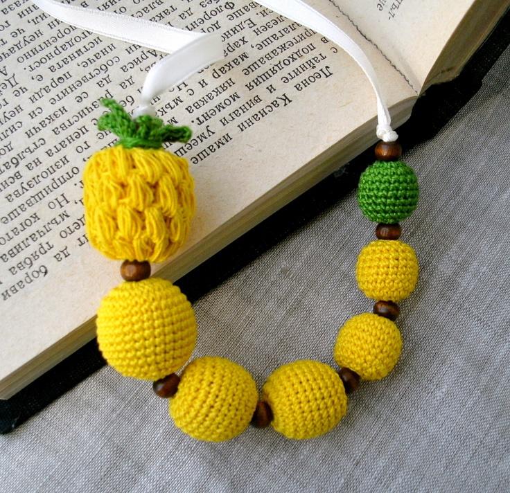 Children's Necklace  Crochet Beads Necklace  by MariaKonstantin