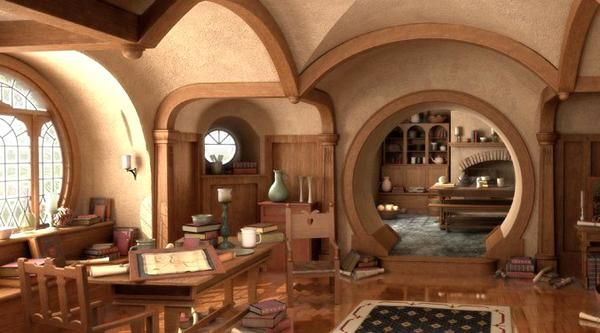 456 best middle earth inspired images on pinterest for Hobbit house furniture