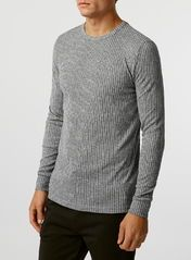 Long Sleeve Grey Rib T-Shirt