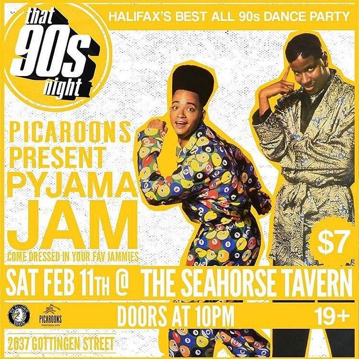 TONIGHT at @theseahorsetavernhfx $7 from @that90snight  We're teaming up with @picaroons for our Pyjama Jam this month.  What does that mean? It means that the first 100 paying customers dressed in their PJs will receive a drink ticket good for a pint of 506 Logger or Yippee IPA. Supplies are limited so arrive early! @theseahorsetavernhfx #Halifax #party #pyjamajam #pyjamaparty #90s #dance #hadtorepostduetotypo