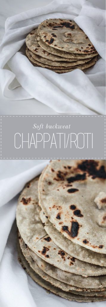 Buckwheat Chapati or roti is gluten and wheat free. Easy with only 3 ingredients to add to any curry dishes.