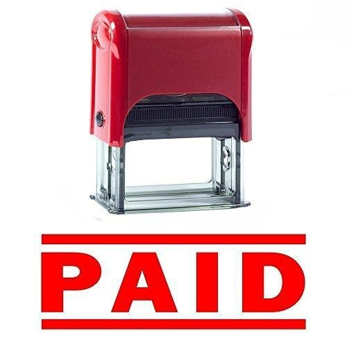 PAID Self Inking Rubber Stamp (Red) - L