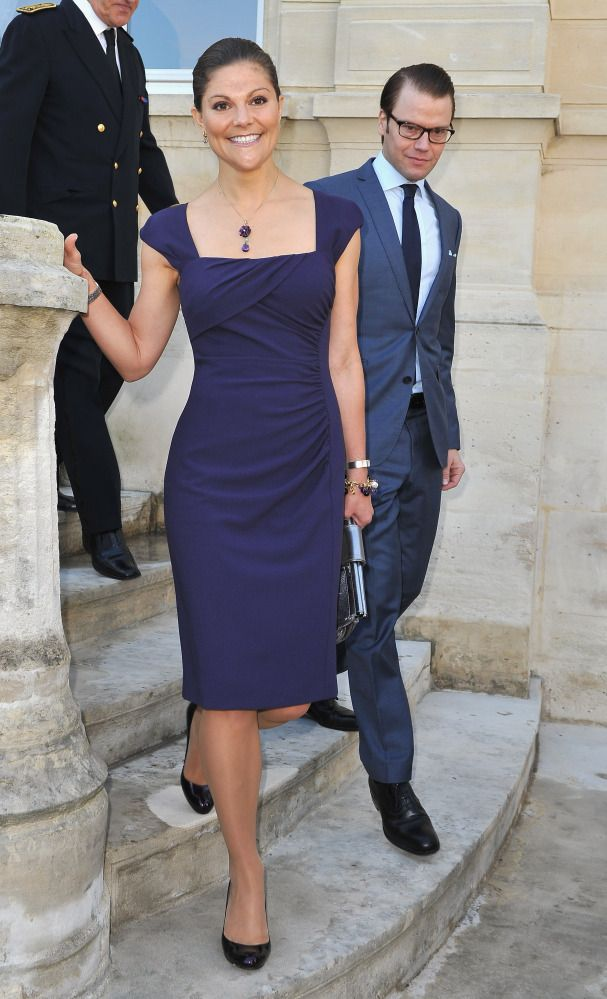 Victoria, Crown Princess Of Sweden.  love this dress