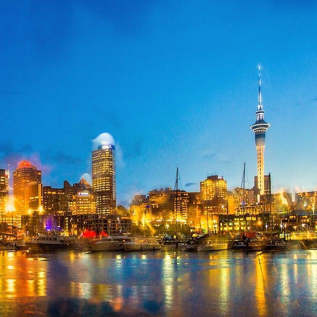 The rain by the wharf, Auckland, New Zealand