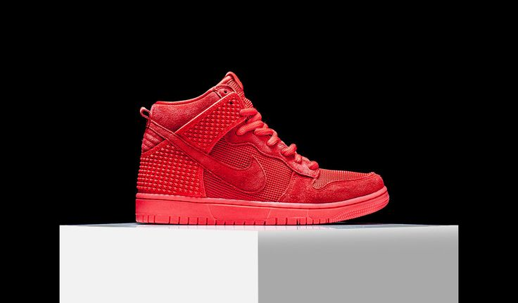 "Nike Dunk High ""Red October"" Price: 120 USD  #shoes #sneakers #nike #nikedunk #dunk #redoctober #yeezy #kanywest"