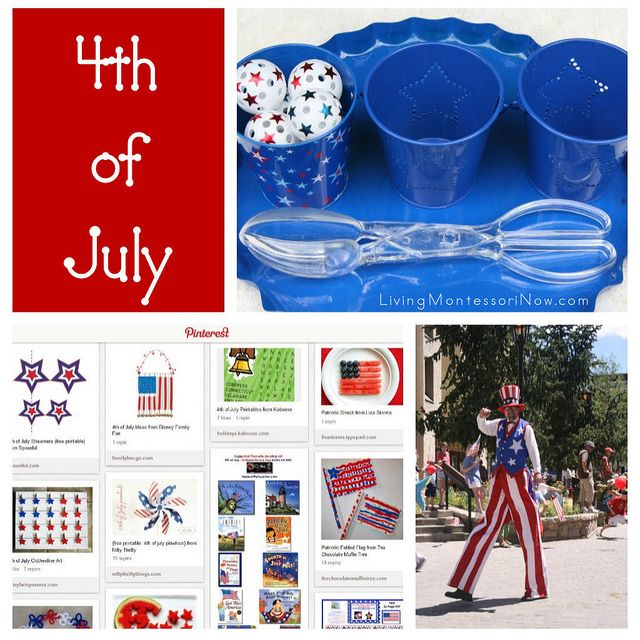 4th of July Activities by Deb Chitwood, via FlickrJuly Activities, Montessori Inspiration 4Th, Deb Chitwood, Schools Ideas, Summer, 4Th Of July, July 4Th, July'S Patriots, Montessori Mondays