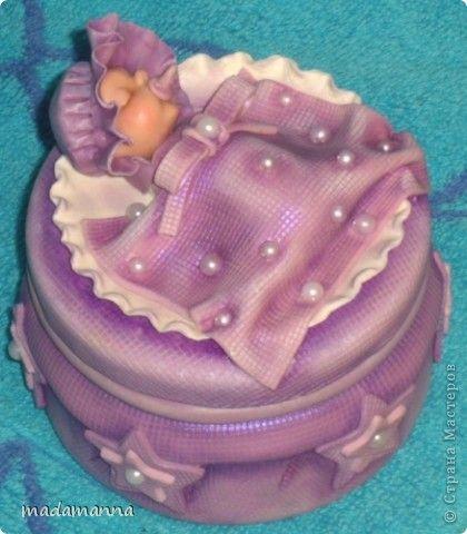 шкатулка для бирочек лепка porcelana fria холодный фарфор лепка младенец baby