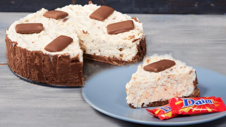 No Bake Cake mit Daim Schokolade