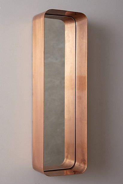 Brass mirror with rounded edges