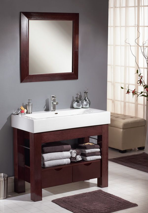 Photo Gallery In Website Blending clean lines with classic wood construction the u u Sonata Vanity Ensemble is