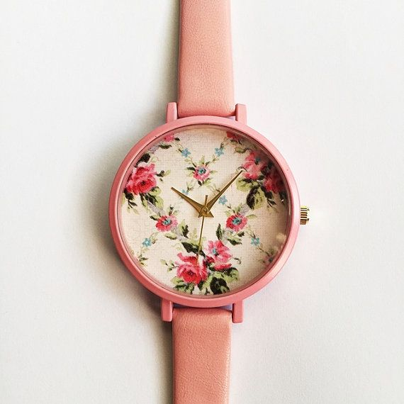 2016 Freeforme Pretty in Pink Floral Watch Women Watches Leather Vintage Style Ladies Jewelry Accessories Spring Fashion Unique Gifts Cute