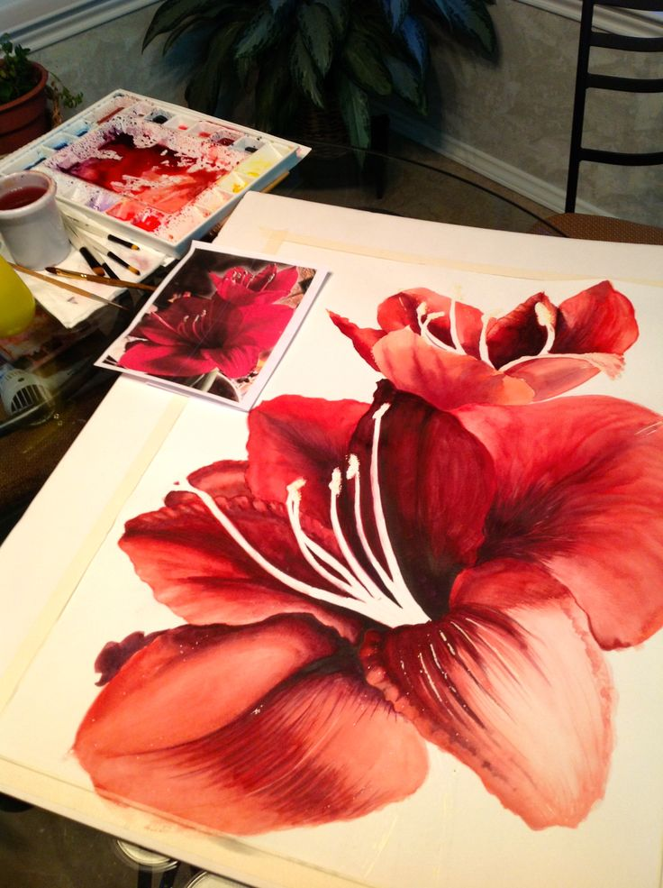 watercolor paintings of flowers | Watercolor Painting by Michelle East (Copywrite)