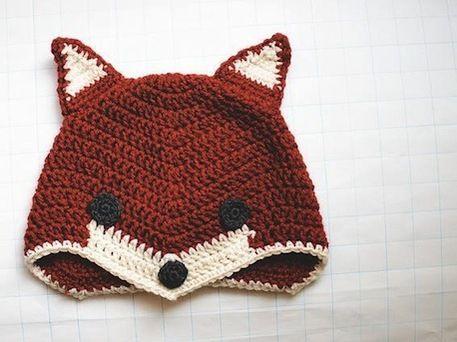Free Crochet Fox Hat Pattern @Bridget K.  - what does the fox say????