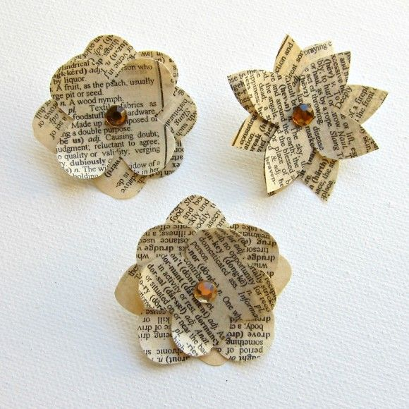 Tutorial:  Paper Flower Push Pins