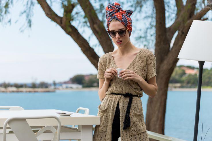 Lace tunic , ss'15 , by nadia rapti , street style