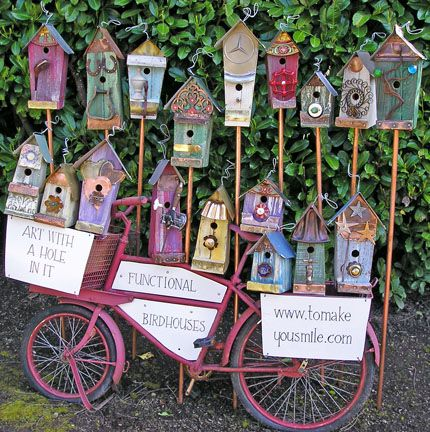 1028 best birdhouses i dunno why images on pinterest for Different bird houses