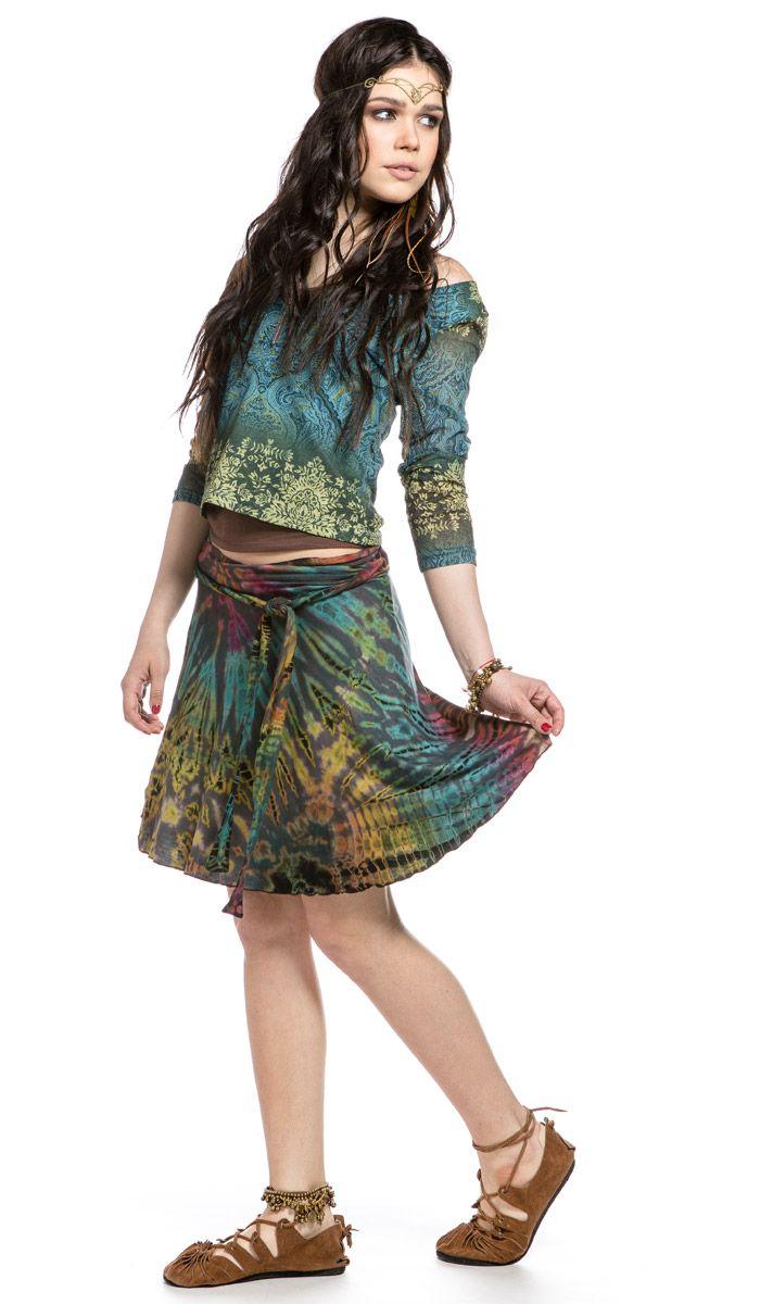 Юбка, узелковый батик, тай-дай, стиль хиппи, бохо, этническая одежда, skirt, batik, tie-dye, style hippie boho, bohemian style, ethnic clothing. 1260 рублей