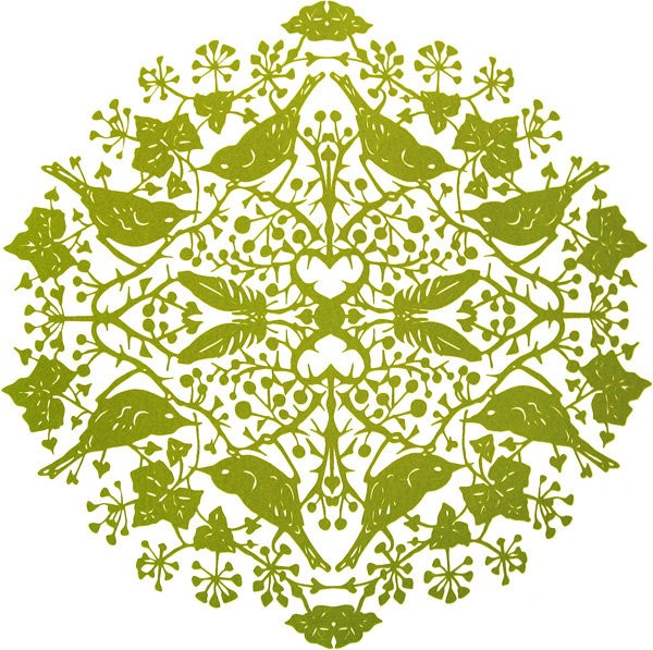Echo - Green, beautiful screenprint by artist Julia McKenzie