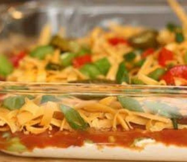 I love cold nacho dips and has been the most popular dish I have made this summer.  The dip is best when prepared and chilled in the fridge for several hours