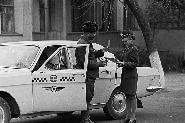 1974 год. Сотрудник ГАИ Наталья Павшина
