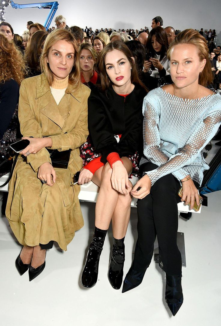 Gaia Repossi, Laura Love, and Olympia Scarry at Christina Dior Spring 2016 Ready-to-Wear