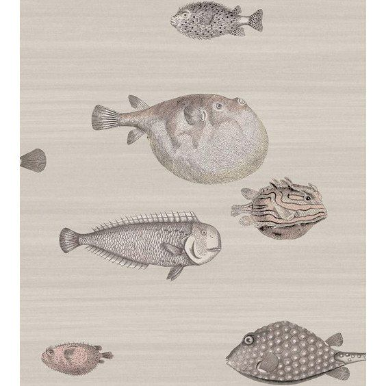 Acquario Fish Wallpaper Soft Neutral Cole & Sons Wallpaper - 3