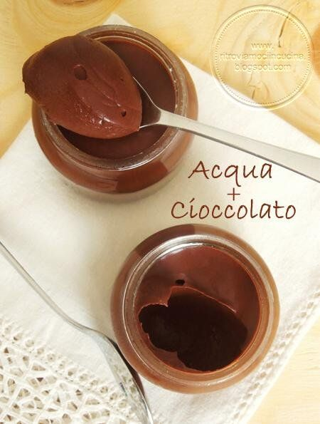 Mousse cioccolato e acqua- Solo due ingredienti!