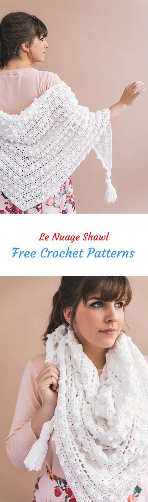 Le Nuage Shawl Free Crochet Pattern