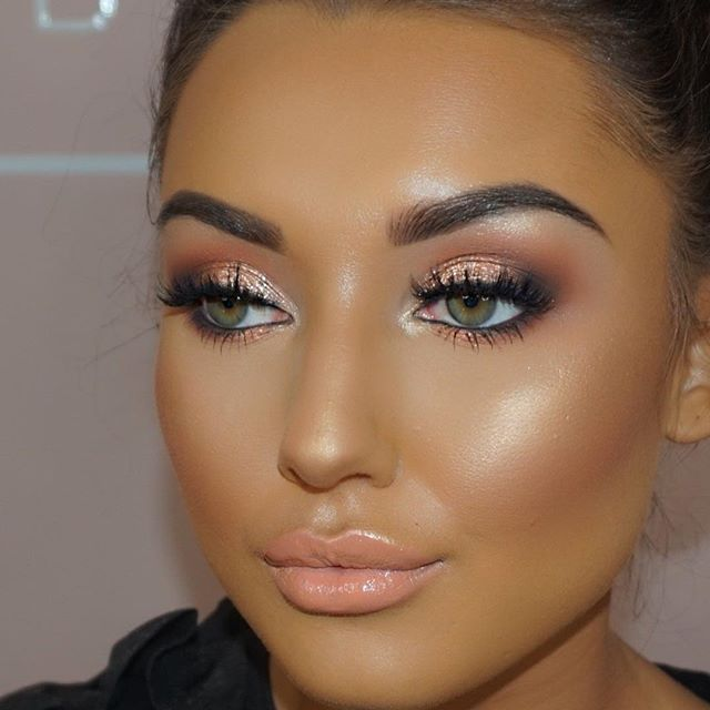 Literally the best face ever @xbeckyarmstrong Makeup look I created in yesterday's masterclass   Product details   @tatti_lashes in TL23  @kyliecosmetics @kyliejenner royal peach palette on the eyes  @litcosmetics addicted glitter on the eyes  @narsissist all day luminous foundation   @lagirlcosmetics pro concealer in beautiful bronze to contour   @anastasiabeverlyhills sundipped highlight palette   @maccosmetics spice lip liner