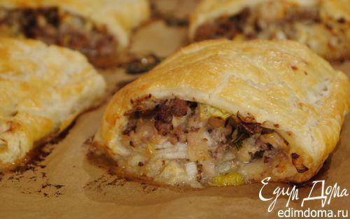 Рулетики со свининой и яблоками    Кулинарные рецепты от «Едим дома!»