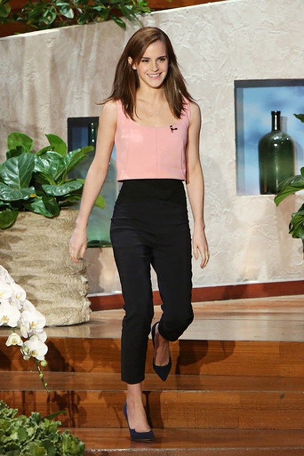 Emma Watson.. top and trousers both from Osman's SS 2014 collection..