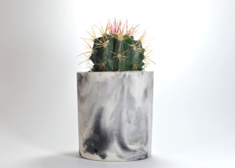 marbled planter (trouva)