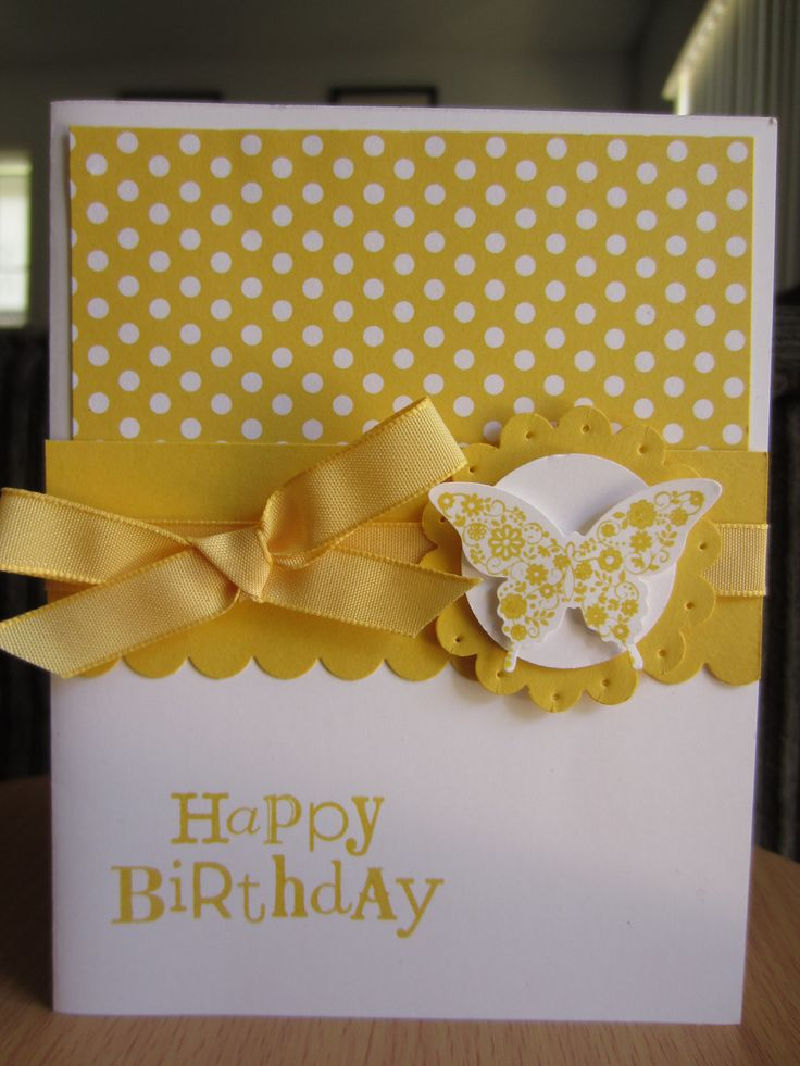 Handmade Greeting Card Stampin Up Happy Birthday Butterfly