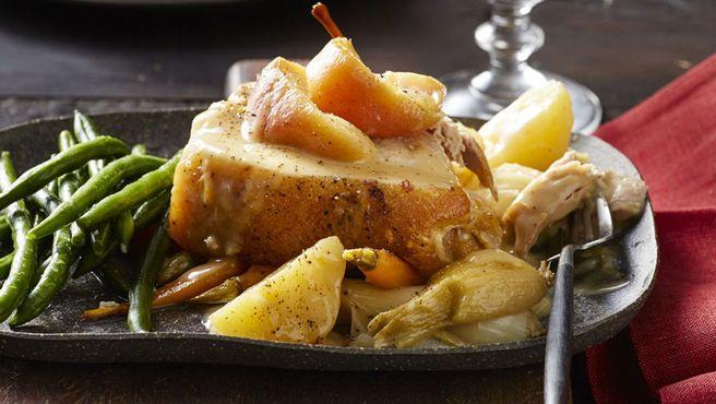 Apple cider pork shoulder pot roast