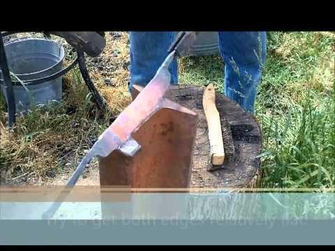 Railroad Spike Drawknife