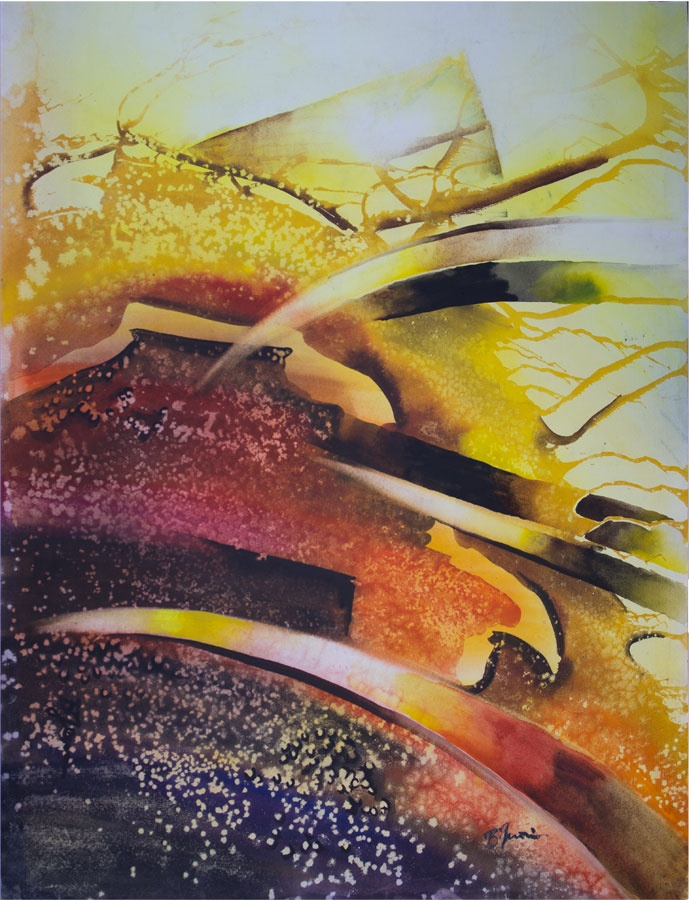 'Invasion of the Light' by Benjaminas. Medium: Watercolour. Fine Art Supplier - Drai Fine Art.