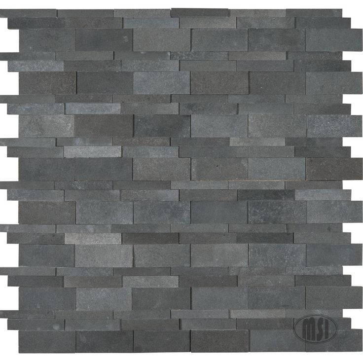 Check out our latest debut from our basalt blue mosaic for Dimensional tile backsplash