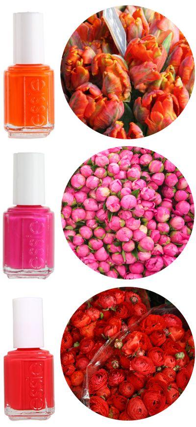 spring nail colorsSpring Flower, Nail Polish, Spring Colors, Spring Nails, Summer Nails, Polish Trends, Essie Nailcolor, Nails Polish, Bright Colors