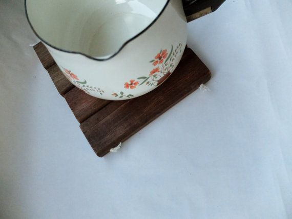 Wooden Slatted Trivet by OursandHours on Etsy